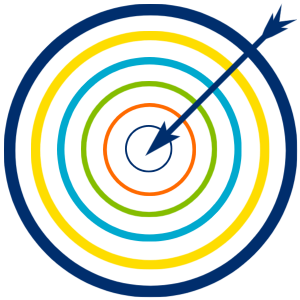 graphic for a target or to be intentional