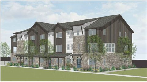 concept rendering for trails edge townhomes