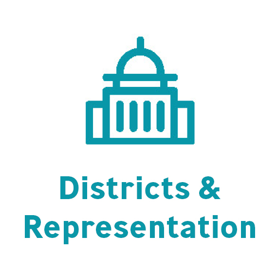 districts and rep button