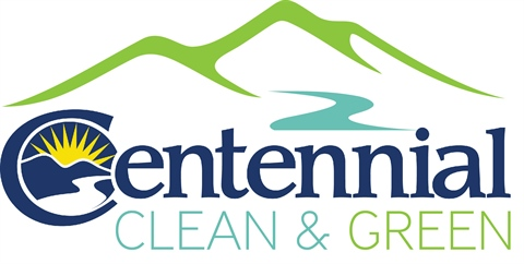 This is a logo for Centennial's Clean & Green web page.